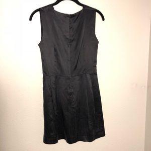 Myne Dresses - Myne Ashley Ann. Deep Plunge Black 100% Silk Dress